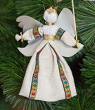 Christmas angel. Decoration for Christmas tree. Puppet from cloth Royalty Free Stock Image