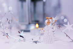 Christmas Angel. Christmas story about little angel and stars Royalty Free Stock Photography