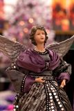 Christmas Angel. Puppet of a christmas angel, in grey and purple Royalty Free Stock Images