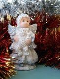 Christmas angel. Whit bear, christmas decoration royalty free stock image