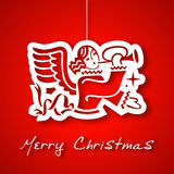 Christmas angel applique background Royalty Free Stock Photography