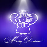Christmas angel with blue background Royalty Free Stock Images