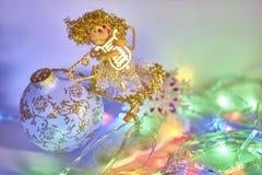 Christmas angel. Bright, colorful Christmas still life Stock Photos