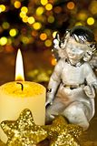 Christmas-angel with candle. Royalty Free Stock Photos