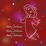 Christmas angel card Royalty Free Stock Images
