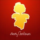 Christmas angel card Stock Photo