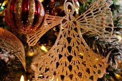 Christmas Angel. On the tree Royalty Free Stock Photos
