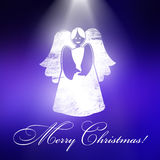 Christmas angel with Christmas background Royalty Free Stock Photos
