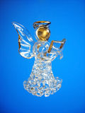 Christmas Angel Decoration. Christmas Angel Glass Decoration on a Blue Background Stock Photography