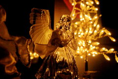 Christmas angel. A christmas of a christmas angel decoration ,in a day of december Stock Image