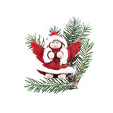 Christmas angel decoration on white Stock Images