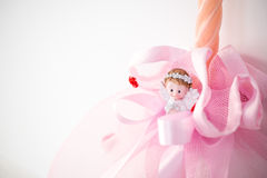 Christmas angel figurine. Handmade candles. Christmas decoration Stock Images