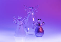 Christmas angel figurines made of glass Stock Photography