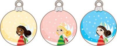 Christmas Angel Gift Tags Stock Photo