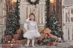 Christmas angel girl Royalty Free Stock Images