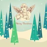 Christmas angel greeting card stock illustration