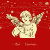 Christmas angel. Greeting card, vintage style Royalty Free Stock Photography