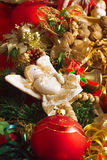 Christmas angel with heart Royalty Free Stock Photo