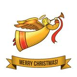 Christmas angel icon Royalty Free Stock Photos