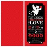 Christmas Angel Invitation Card Stock Photos
