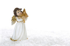 Christmas angel - isolated for a christmas card or religious bac Royalty Free Stock Photography