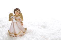 Christmas angel isolated on a white background Royalty Free Stock Images