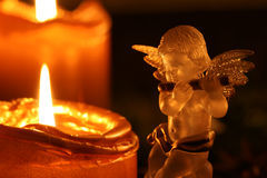 Christmas Angel Making Music Stock Image