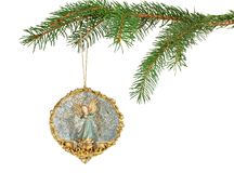 Christmas Angel Ornament Royalty Free Stock Photography