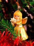 Christmas angel. Ornament on the Christmas tree Stock Photos