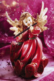 Christmas Angel playing music Royalty Free Stock Images