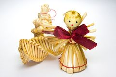 Christmas angel with presents Stock Image