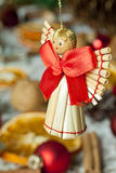 Christmas angel with red bow stock images