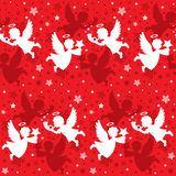 Christmas Angel Seamless Stock Images