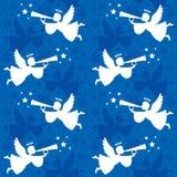 Christmas Angel Seamless Stock Photo