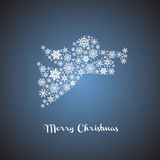 Christmas angel silhouette Royalty Free Stock Image