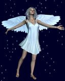 Christmas Angel with Silver Sparkles Royalty Free Stock Photos