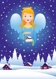 Christmas angel in the sky Royalty Free Stock Photo