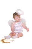 Christmas angel, small child Royalty Free Stock Photos
