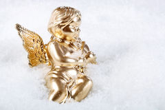 Christmas Angel on a snow Royalty Free Stock Image
