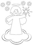 Christmas angel with the star. Of Bethlehem on a white background Stock Images
