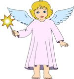 Christmas angel with star Royalty Free Stock Images
