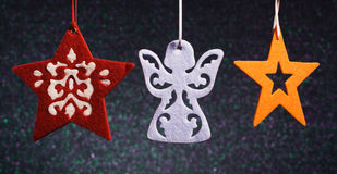 Christmas angel and stars. Royalty Free Stock Photo