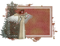 Christmas Angel Tag Royalty Free Stock Photography
