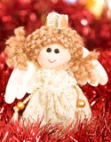 Christmas angel toy Stock Photos