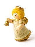 Christmas Angel toy. Isolated stock image