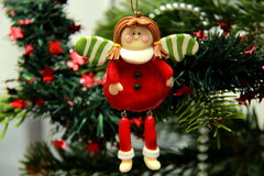 Christmas angel toy Stock Images
