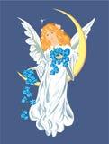 Christmas angel. Vector illustration of angel on Christmas Day or on Angel Stock Photo