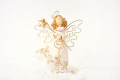 Christmas angel. Christmas angel on a white background stock photos