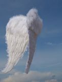 Christmas angel wings. Christmas holiday angel wings in sky
