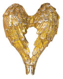 Christmas angel wings gold decoration Stock Image